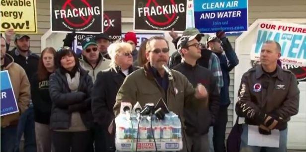 Protestors oppose fracking